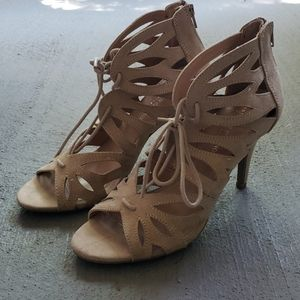 Nude Christian Siriano Ghillie Sandals - 9